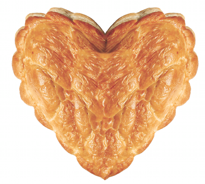 Limited Edition Heart Shaped Valentines Day Pasty from Ginsters