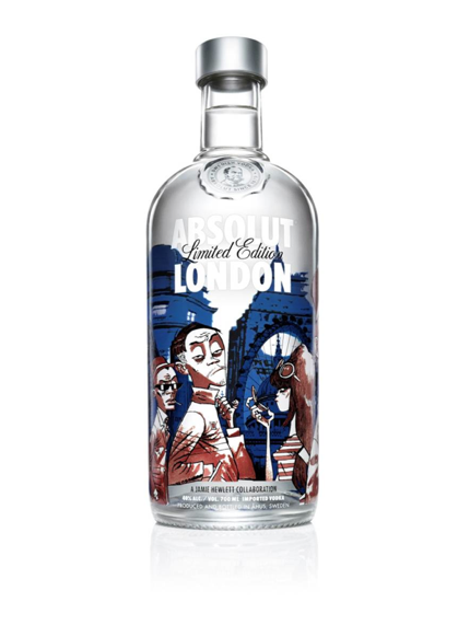 AN ABSOLUT STARE: The iconic booze brand and Jamie Hewlett celebrate London