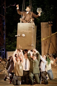 Anthony Clegg (J.P. Morgan) and Company of Ragtime at Regents Park Open Theatre
