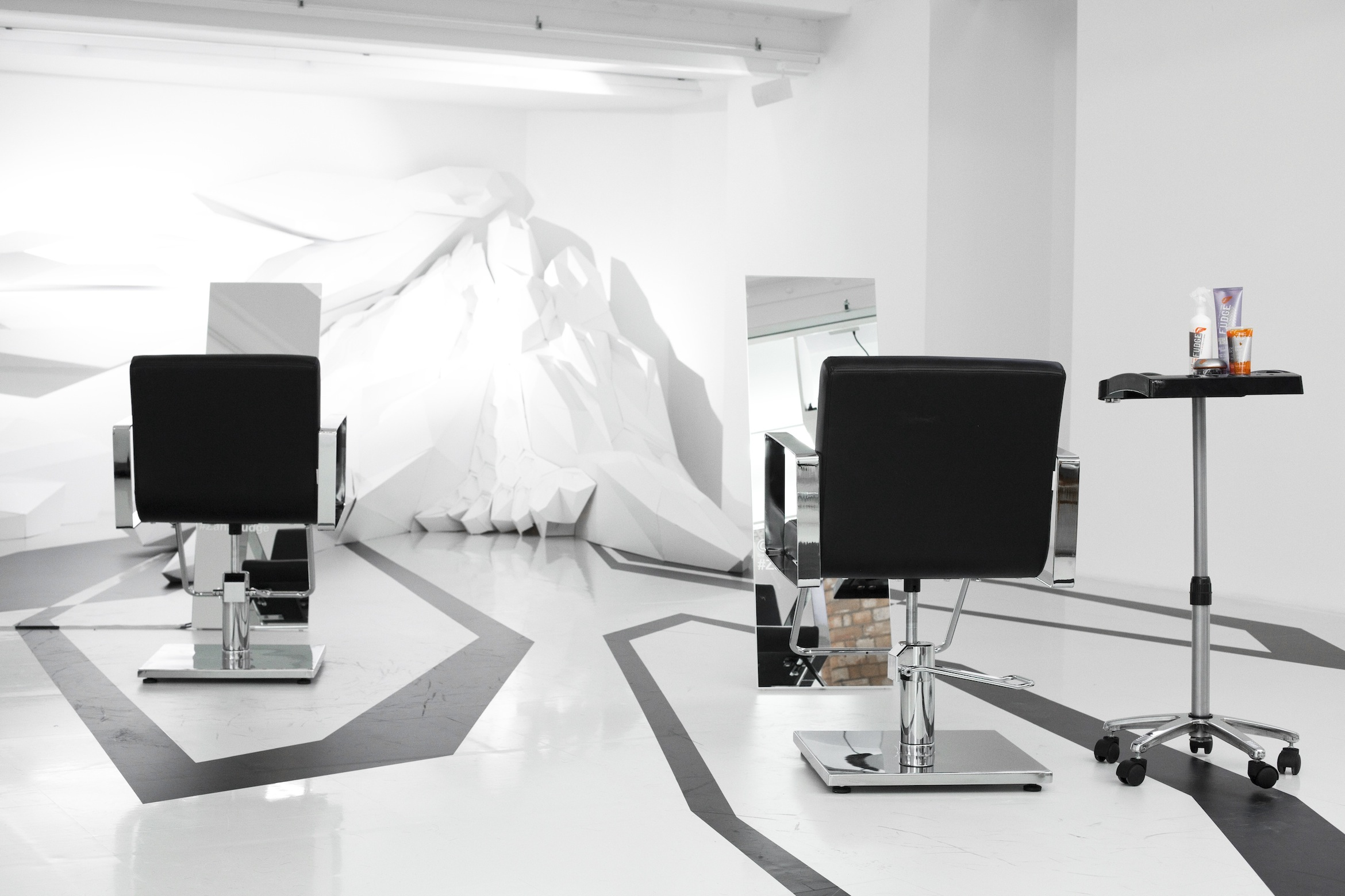 HAIR-ARCHITECTURE: Fudge and Zaha Hadid Design Gallery Pop-Up Salon ...