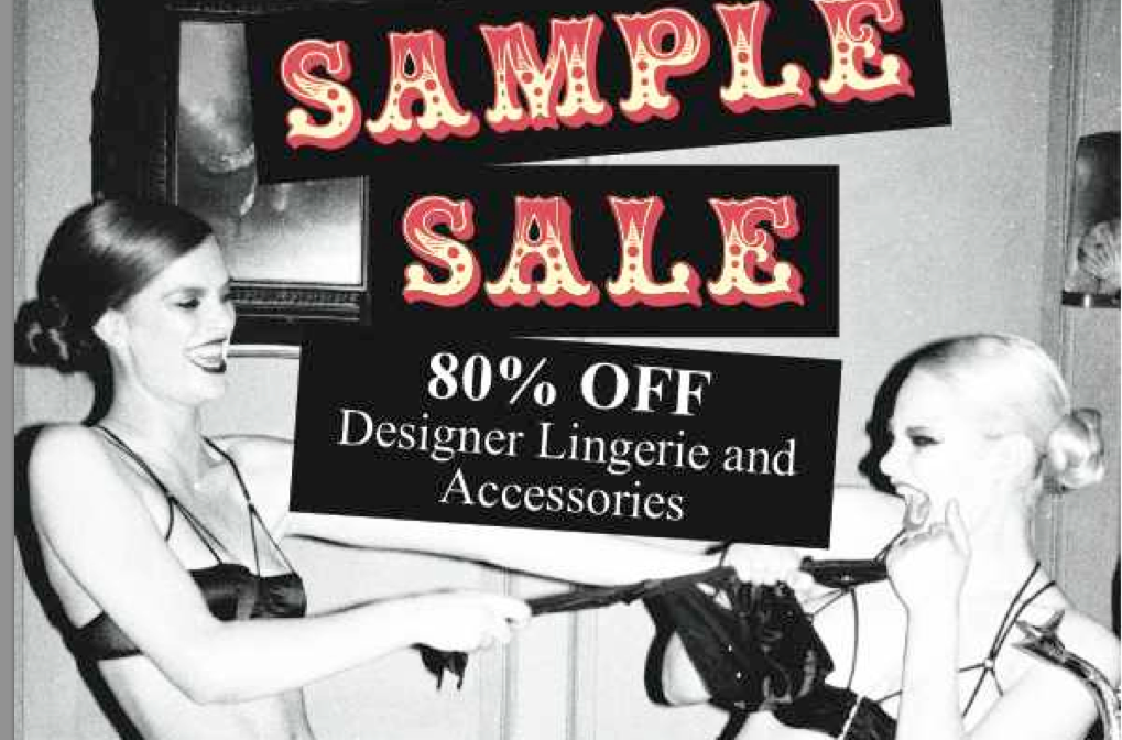 TIME TO STRIP: Coco de Mer sample sale 28th & 29th February, Seven Dials