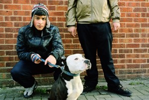 Building Desire Series: Teenager with dog (2009) by Mahtab Hussain C-type print 120cm x 150cm Courtesy of Mahtab Hussain/Sumarria Lunn Gallery