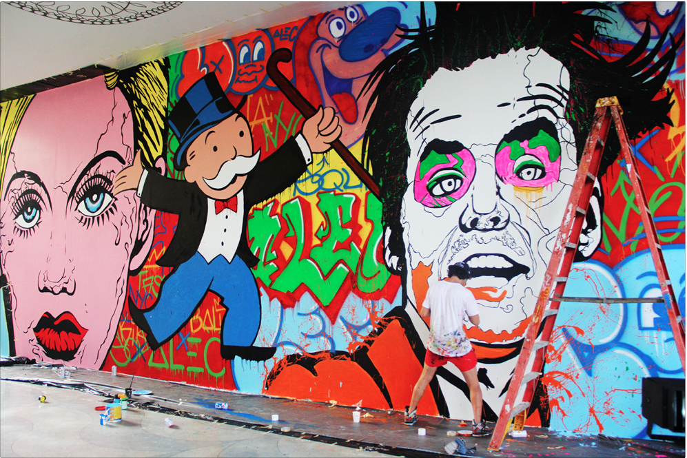 W HOTEL BALI: New York graffiti artist, Alec Monopoly does bespoke art