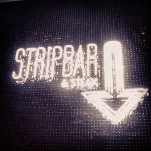 1. Strip Bar sign