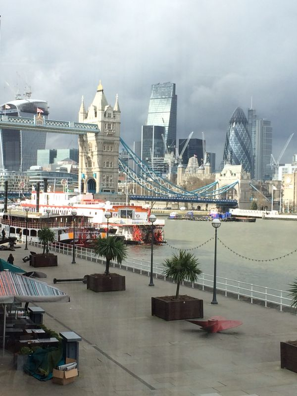 The blue print caf panoramic riverside restaurant review its i was lucky to catch the right day with a few clouds and plenty of sun and this made walking down the promenade along the thames river from london bridge malvernweather Image collections