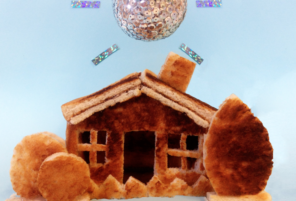 HOUSE OF TOAST: Architectural, bread-based building and dance party.