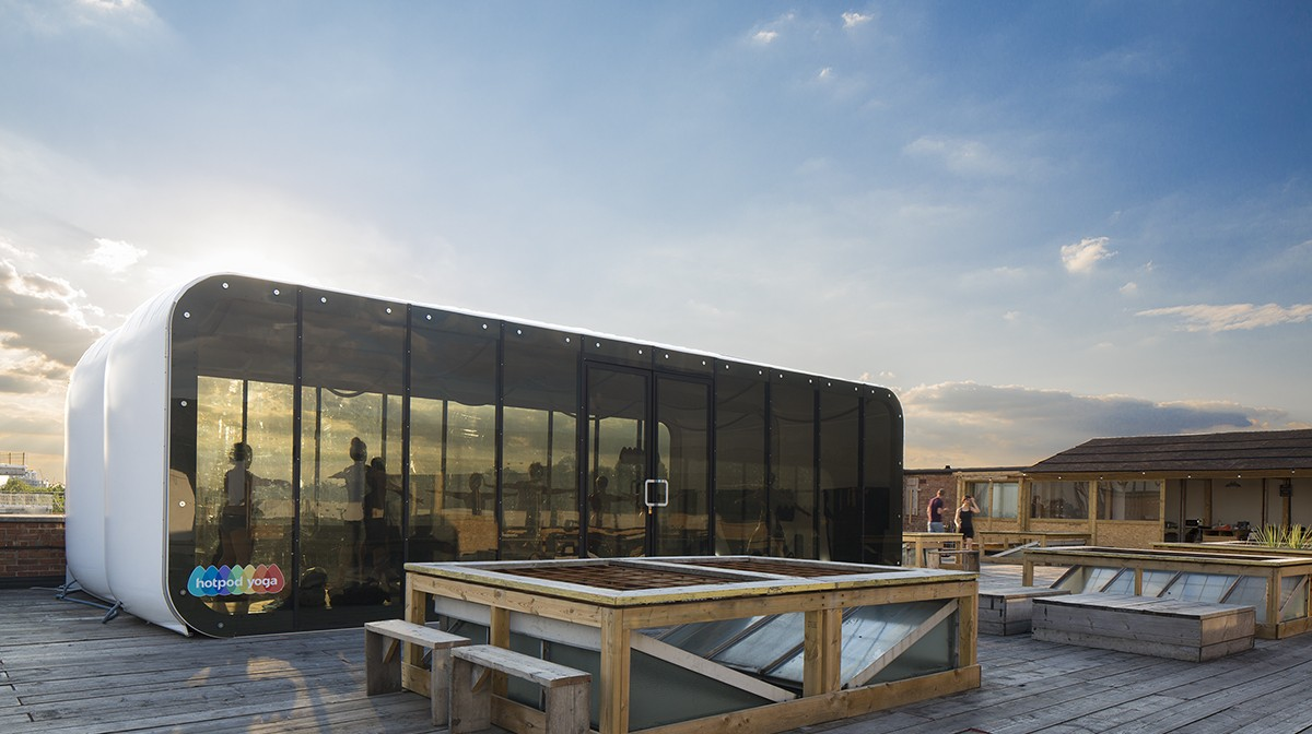 HOTPOD YOGA LAUNCHES NEW ROOFPOD: Heated structure with floor to ceiling windows pops up atop Netil House, Hackney offering Vinyasa yoga classes