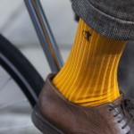 orange sock close up 2