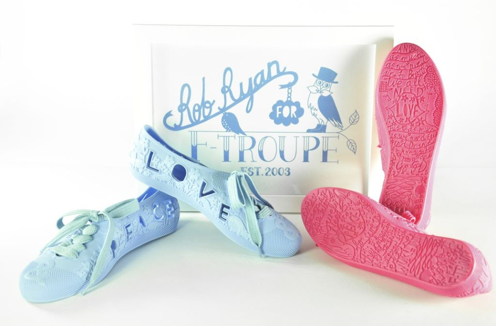 F-TROUPE x ROB RYAN: Art meets fashion footwear