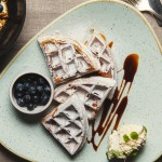 Quinoa Waffles with Devonshire Clotted Cream & Yacon Syrup1
