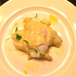 white asparagus, poached egg & bernaise