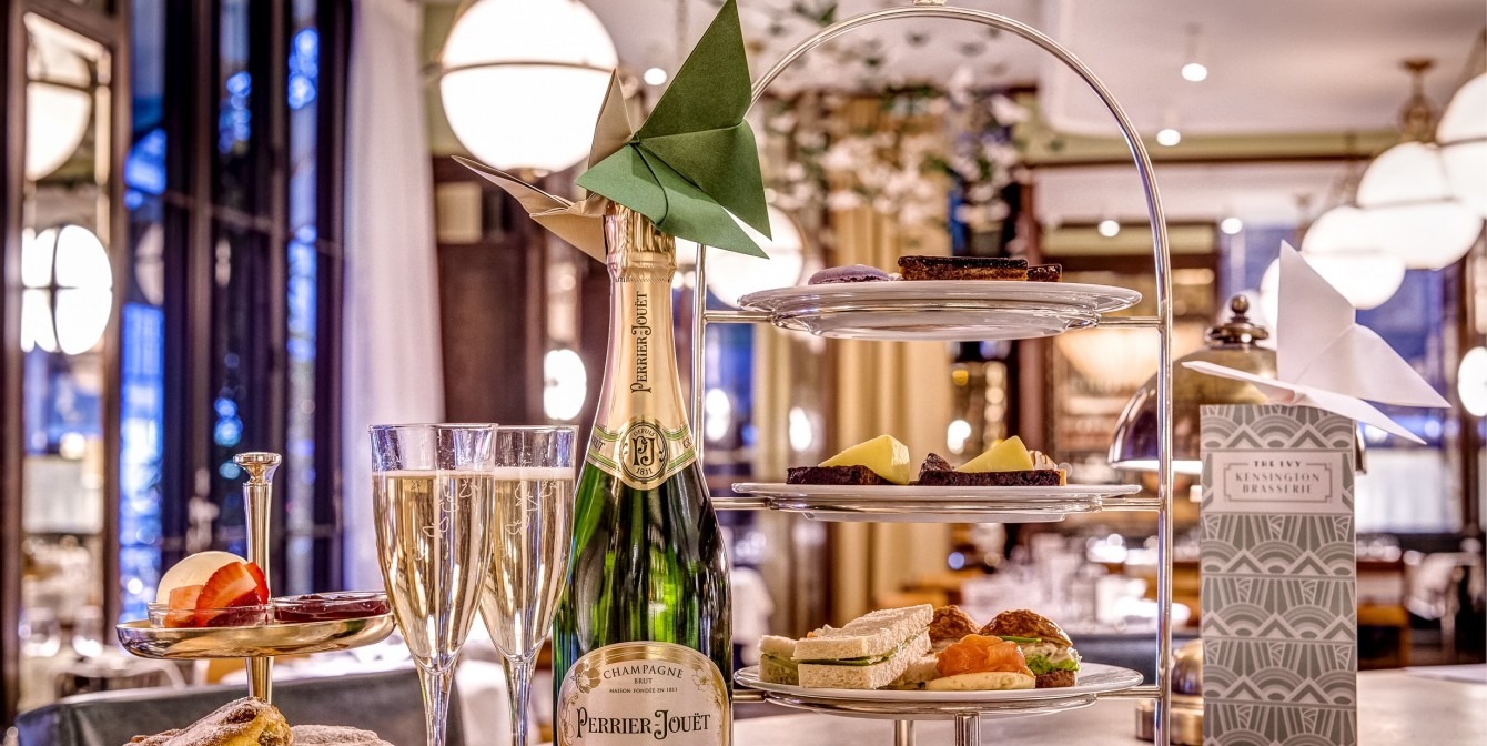 THE IVY BRASSERIE BUTTERFLY KISSES: Afternoon Tea With Perrier-Jouët