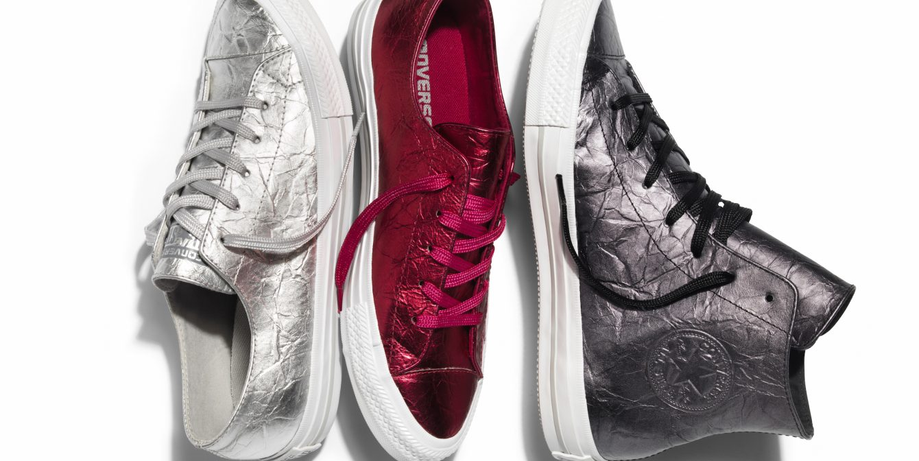 CONVERSE: Chuck Taylor introduces a couture-inspired almond toe shape & metallics