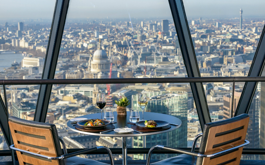 THE GHERKIN: London's iconic tower opens to the public for six week 'seaside in the sky' pop-up