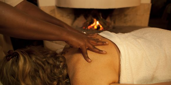 Spa treatments at Solio take place in your room, with a fire lit in chillier weather