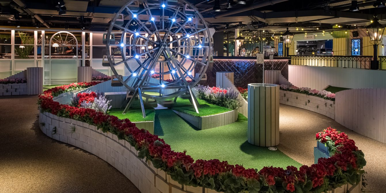SWINGERS: The crazy golf club lands on Oxford Street in the old BHS with an incredible interior makeover