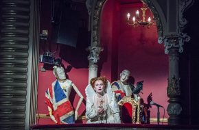 Toyah Willcox (Queen Elizabeth I) in Jubilee at Lyric Hammersmith. Photos by Tristram Kenton.