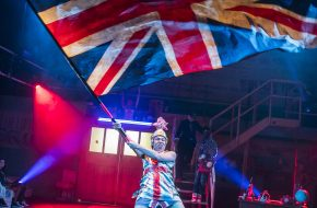 Travis Alabanza (Amyl Nitrate) in Jubilee at Lyric Hammersmith. Photos by Tristram Kenton.