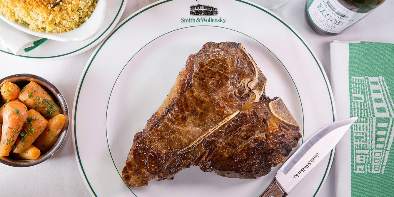 SMITH & WOLLENSKY: Steaks to die for at this very fine New York-styled spot beloved by Tom Jones