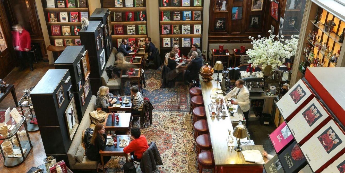 MAISON ASSOULINE: Eat, drink and be merry at inside London's grandest bookstore