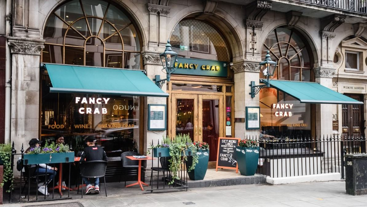 FANCY CRAB: Chic seafood dining spot a stone's throw from the bustling St Christopher's Place.