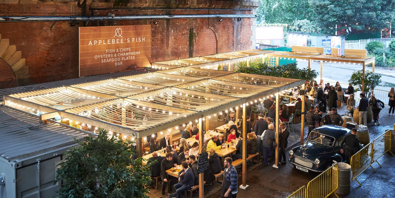 APPLEBEE'S FISH: Pops up on the South Bank