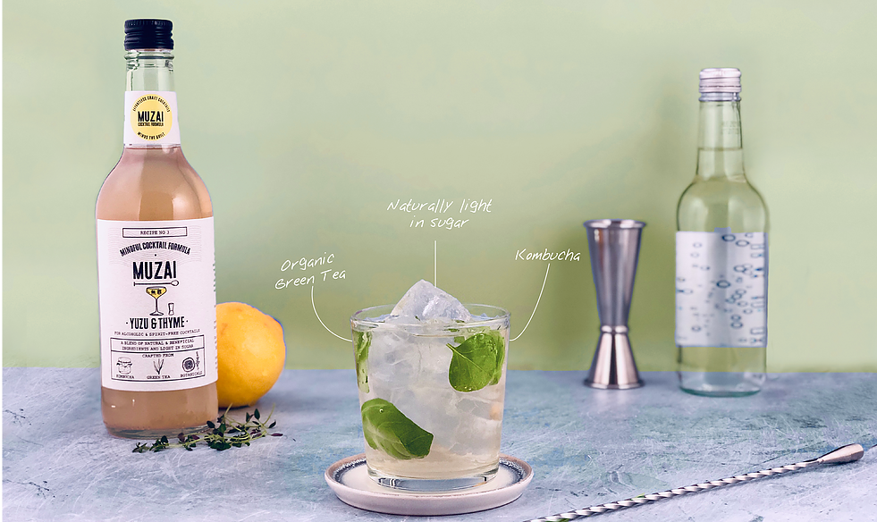 MUZAI: The world's first mindful cocktail formula to incorporate kombucha into the mix