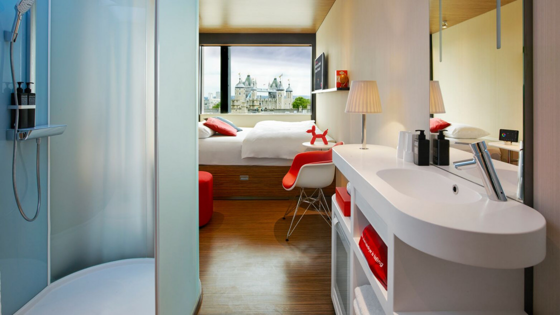 CITIZENM TOWER OF LONDON: One of the best views in town from this funky spot – with rooms from £80