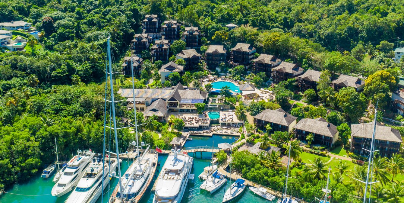 MARIGOT BAY: A cool tucked-away resort in St Lucia, with a rum cave, epic rope swing and sushi pool bar