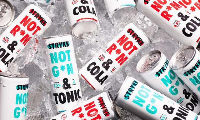 STRYKK: Ready to drink cans with all of the spirit but none of the alcohol and just 18 calories